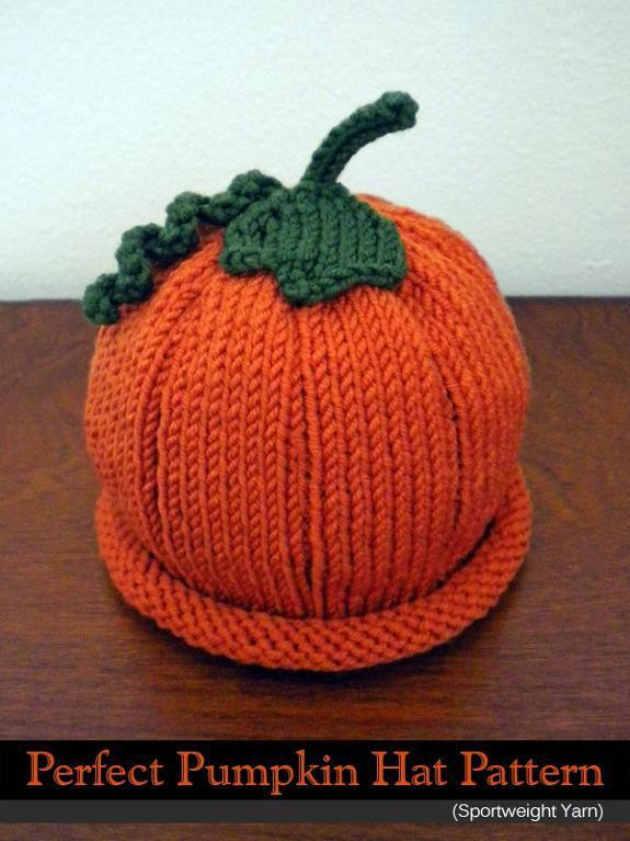 3 Knitted Pumpkin Hat Patterns Sizzle Stich