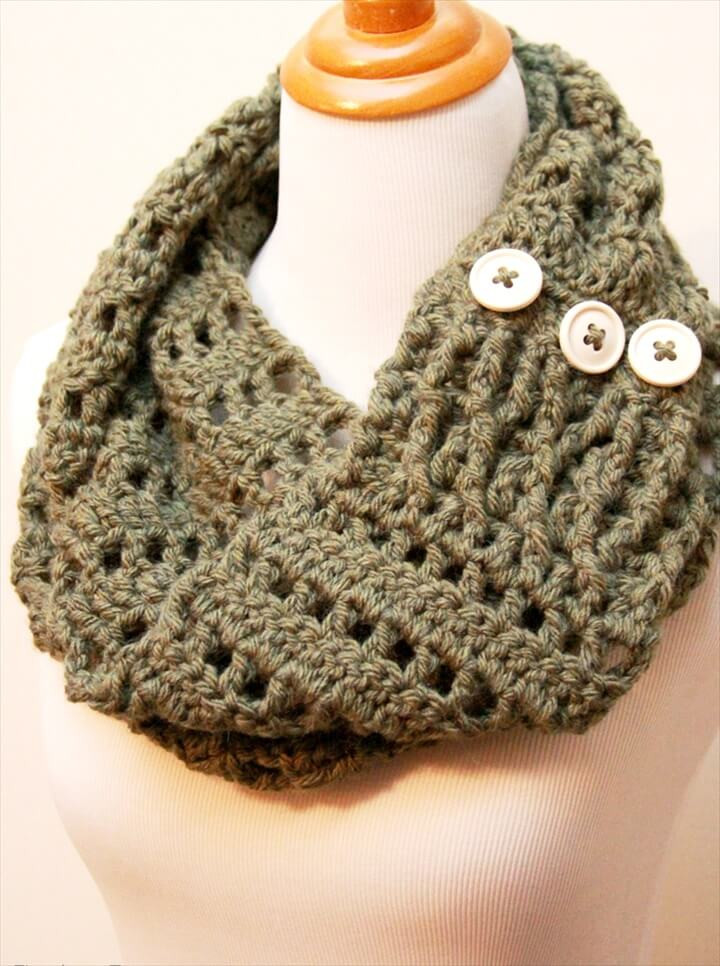 Lovely 32 Super Easy Crochet Infinity Scarf Ideas Infinity Cowl Crochet Pattern Of Awesome 49 Pics Infinity Cowl Crochet Pattern