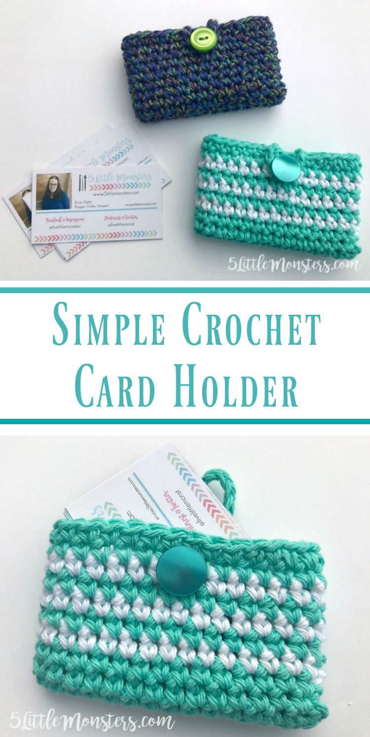 Lovely 5 Little Monsters Simple Crocheted Card Holder Crochet Business Cards Of Superb 40 Photos Crochet Business Cards
