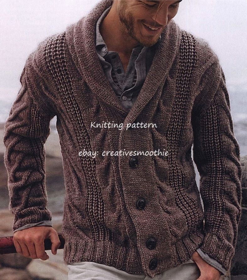 Lovely 536 Chunky Knitting Pattern for Mens Cable Cardigan Mens Cardigan Knitting Pattern Of Unique 44 Models Mens Cardigan Knitting Pattern