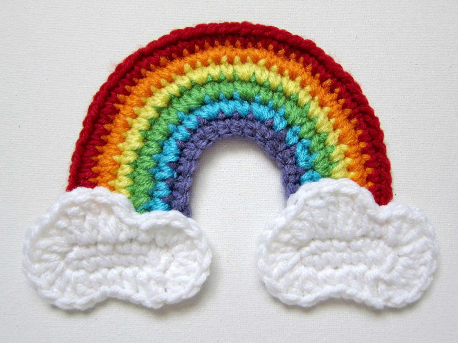 Lovely 6 5 Crochet Red Rainbow with Clouds Applique Crochet Rainbow Pattern Of Wonderful 45 Images Crochet Rainbow Pattern