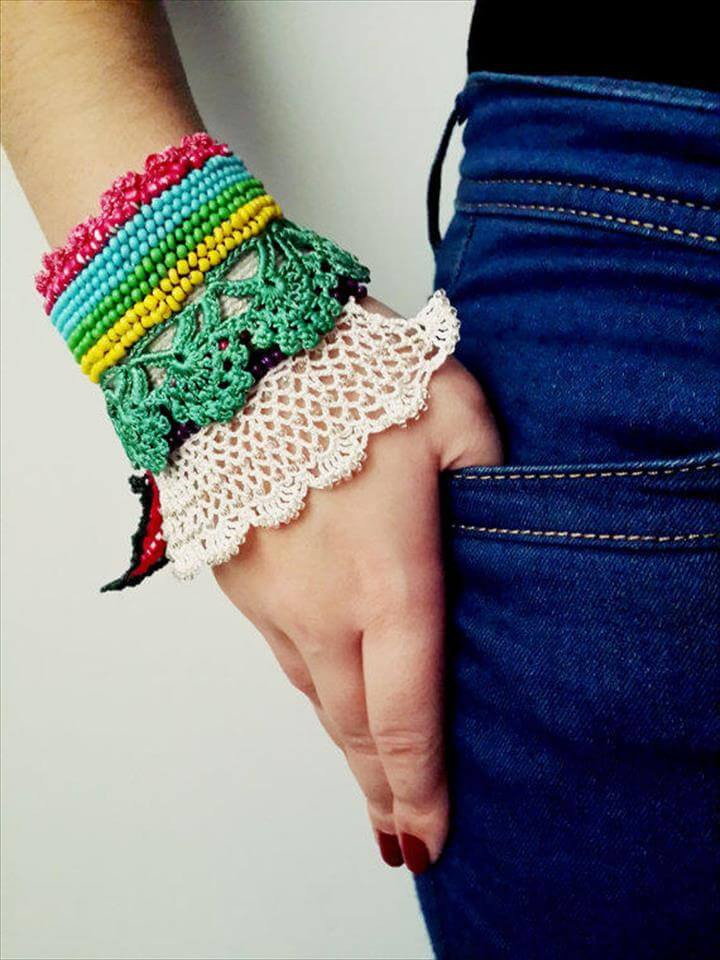 60 Eye Catching Crochet Bracelet Tutorials