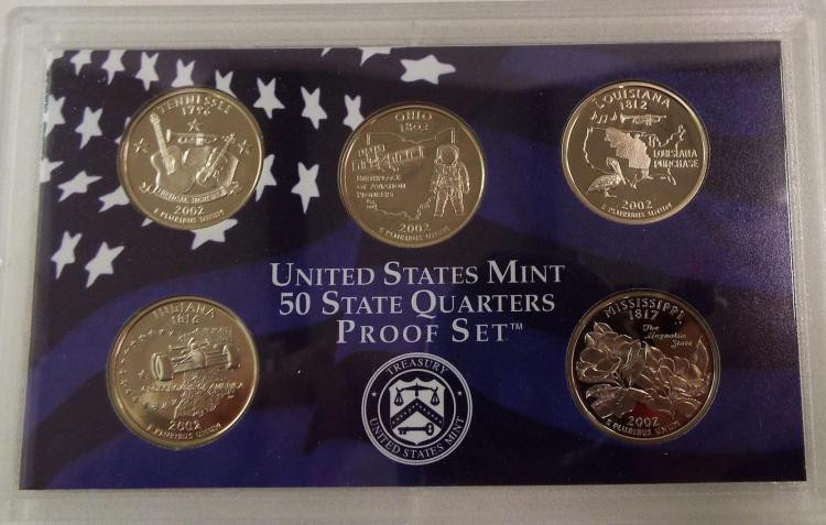 Lovely 7 United States Mint Proof Sets 1982 1999 2002 United States Mint Proof Set Of Charming 43 Photos United States Mint Proof Set