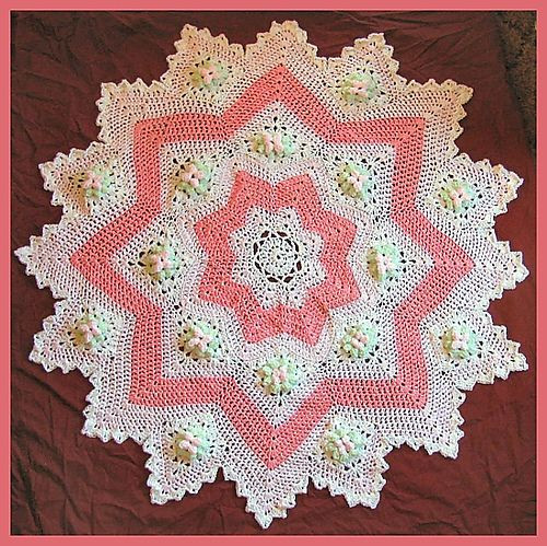 Lovely 78 Best Images About Round Ripple Rugs & Star Type Crochet Round Baby Blanket Of Lovely New Hand Crochet Round Lacy Pink & White Baby Afghan Crochet Round Baby Blanket