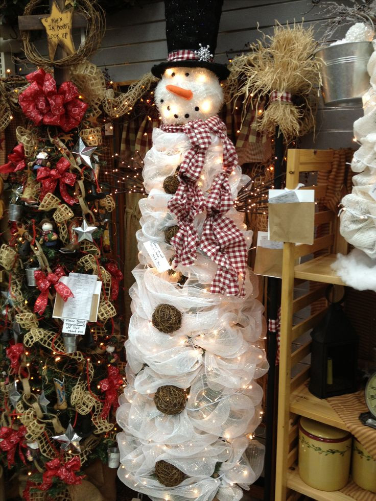 Lovely 792 Best Poly Deco Mesh Creations Images On Pinterest Snowman Christmas Tree Decorations Of Adorable 46 Pictures Snowman Christmas Tree Decorations