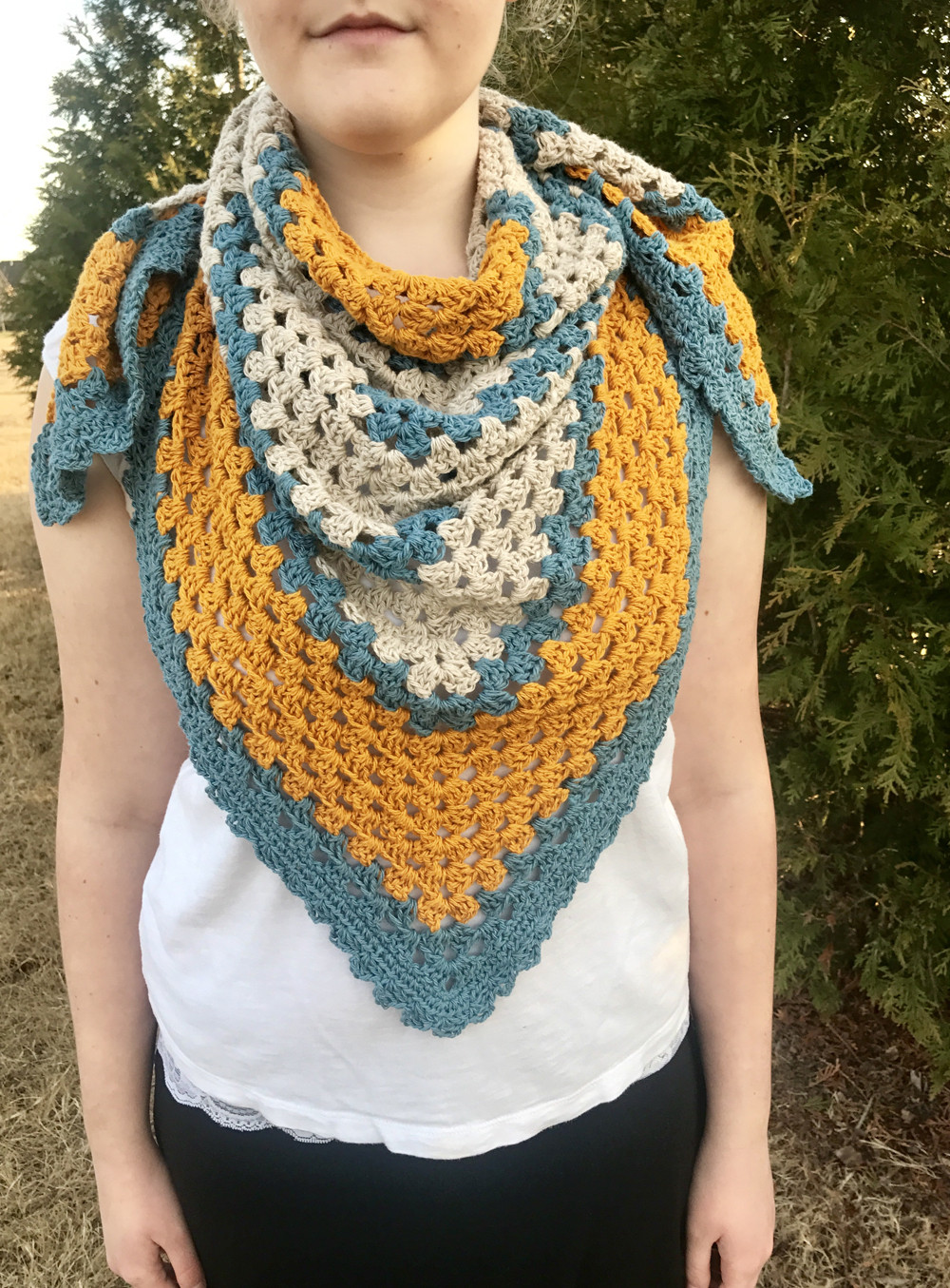 Lovely A Sunny Day Triangle Shawl Crochet Pattern by Little Crochet Triangle Of Amazing 48 Ideas Crochet Triangle