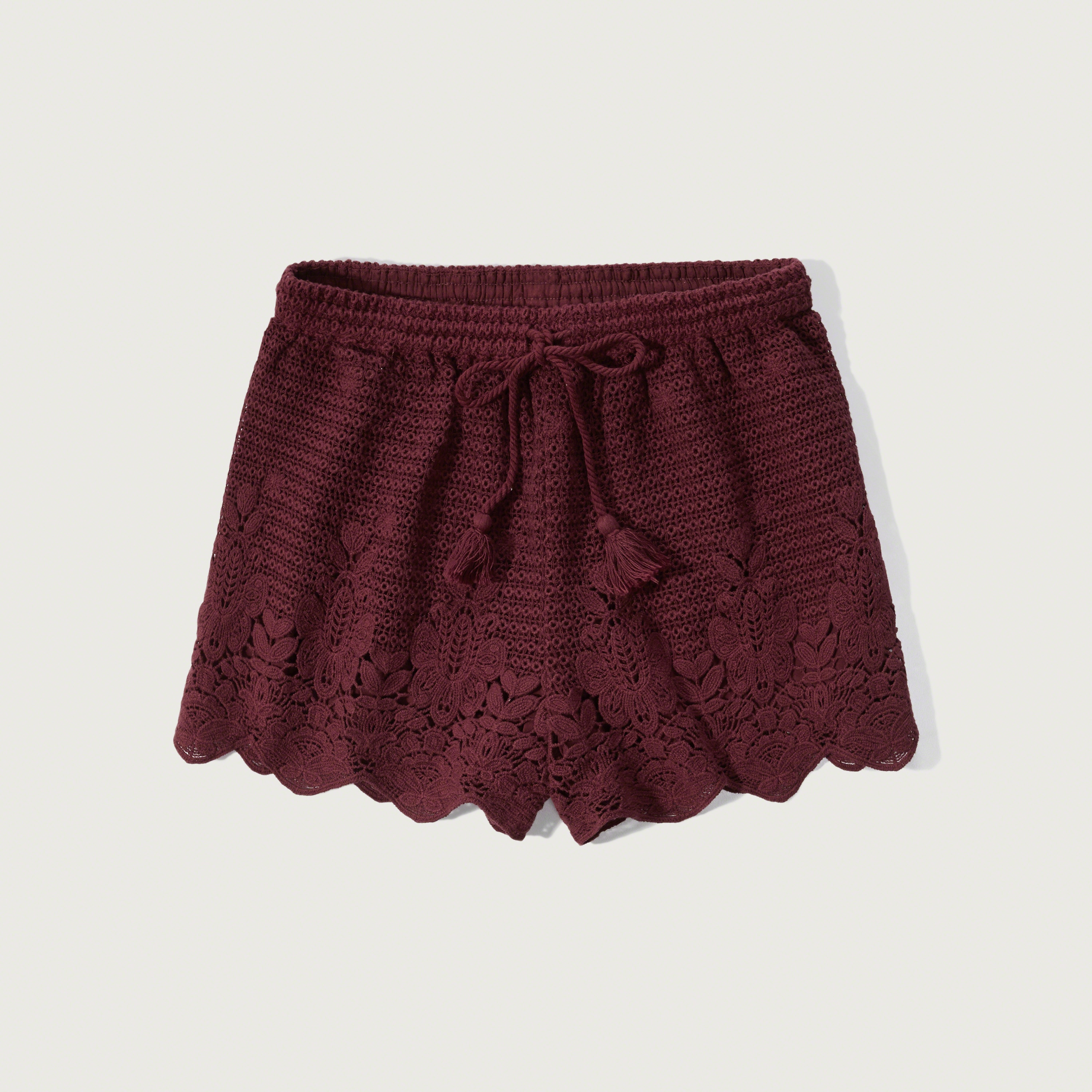 Abercrombie & fitch Crochet Lace Soft Shorts in Purple