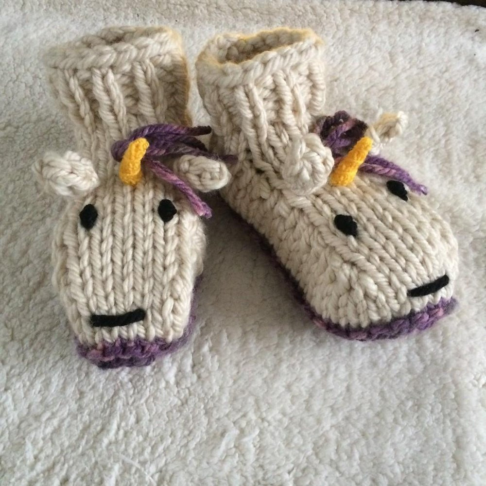 Lovely Adult Unicorn socks Slippers Knitting Pattern by Emma Whittle Knitted Booties for Adults Of Delightful 47 Images Knitted Booties for Adults