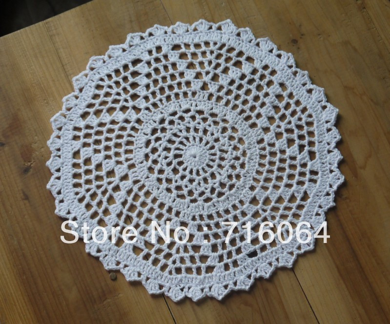 Lovely Aliexpress Buy Handmade Crocheted Doilies Round Crochet Placemats Of Gorgeous 40 Models Crochet Placemats