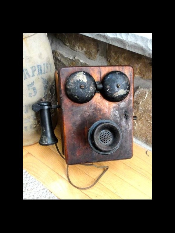Lovely Antique Western Electric Crank Telephone Hvy Wood Box Antique Crank Phone Of Top 49 Pictures Antique Crank Phone