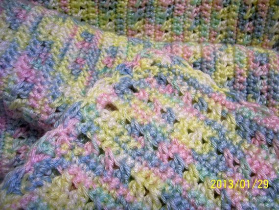 Lovely Baby Afghan Hand Crochet 36 X 42 Variegated Variegated Yarn Crochet Patterns Of Attractive 44 Ideas Variegated Yarn Crochet Patterns