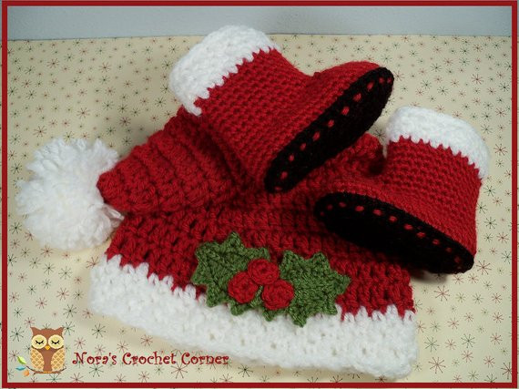 Lovely Baby Christmas Santa Hat and Boots Crochet 134 Crochet Baby Santa Hat Of Amazing 44 Images Crochet Baby Santa Hat