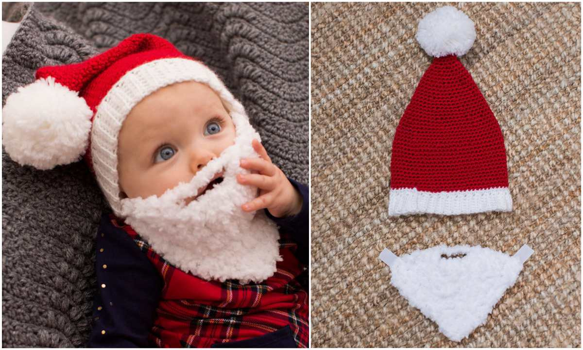 Lovely Baby Crochet Santa Hat with Beard – Free Pattern Crochet Baby Santa Hat Of Amazing 44 Images Crochet Baby Santa Hat
