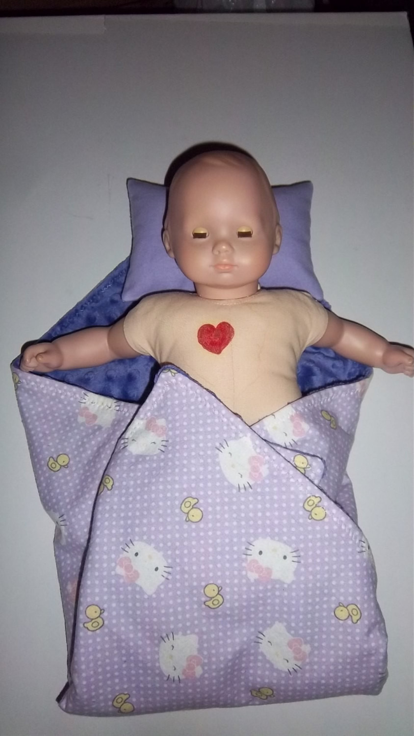 baby doll blanket kitty cat ducks bows