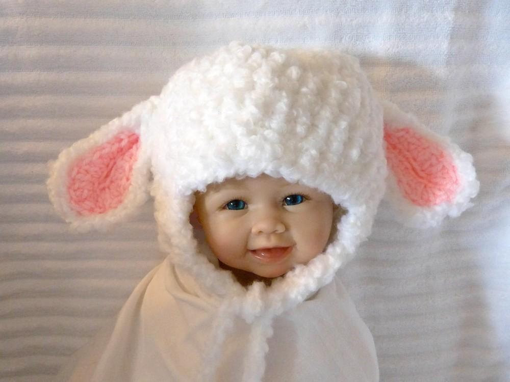 Lovely Baby Lamb Hat with Ear Flaps Floppy Ears Winter White Grey Lamb Hat Of Awesome 46 Images Lamb Hat