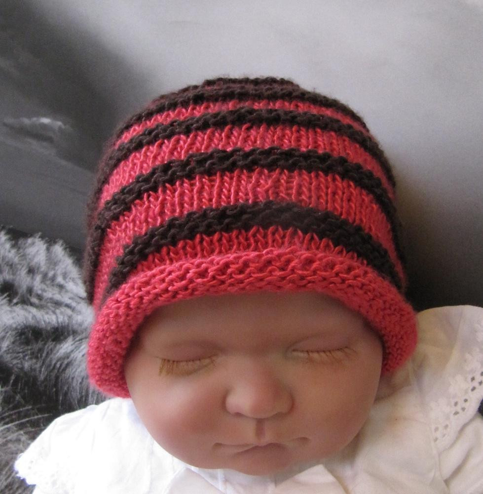 Lovely Baby Simple Stripe Roll Brim Beanie Hat Baby Beanie Knitting Pattern Of Innovative 49 Pics Baby Beanie Knitting Pattern