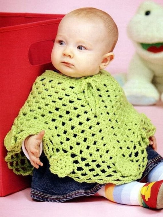 Baby Toddler Wraps Poncho Crochet Patterns
