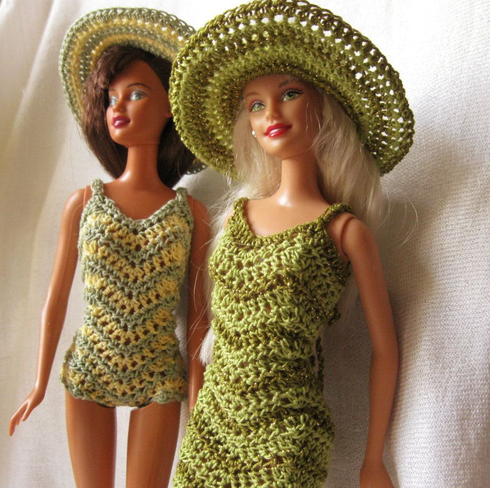 Lovely Barbie Doll Crochet Pattern Chevron Dress and Swimsuit Crochet Barbie Clothes Of Marvelous 46 Photos Crochet Barbie Clothes