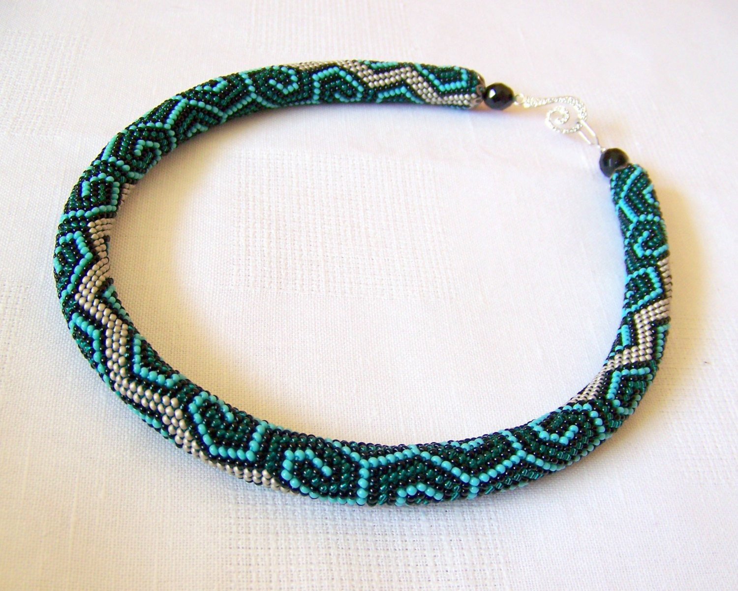 Lovely Bead Crochet Necklace with Geometric Pattern Beaded Rope Bead Crochet Of Fresh 42 Pics Bead Crochet