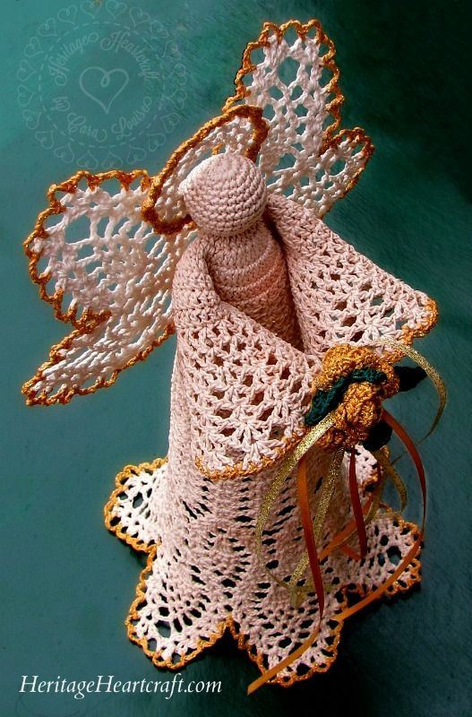 Lovely Beautiful Christmas Angel Tree topper From Crochet Angel Tree topper Of Charming 43 Ideas Crochet Angel Tree topper