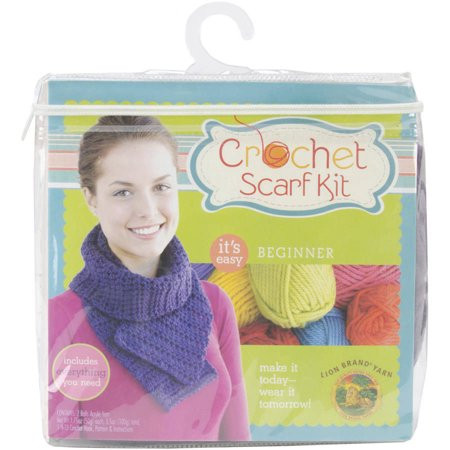 Lovely Beginner Crochet Scarf Kit Purple Walmart Beginners Crochet Kit Of Amazing 49 Photos Beginners Crochet Kit