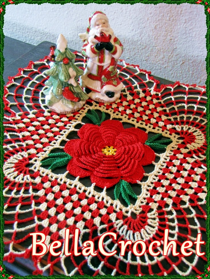 BellaCrochet Country Christmas Doily A Free Crochet