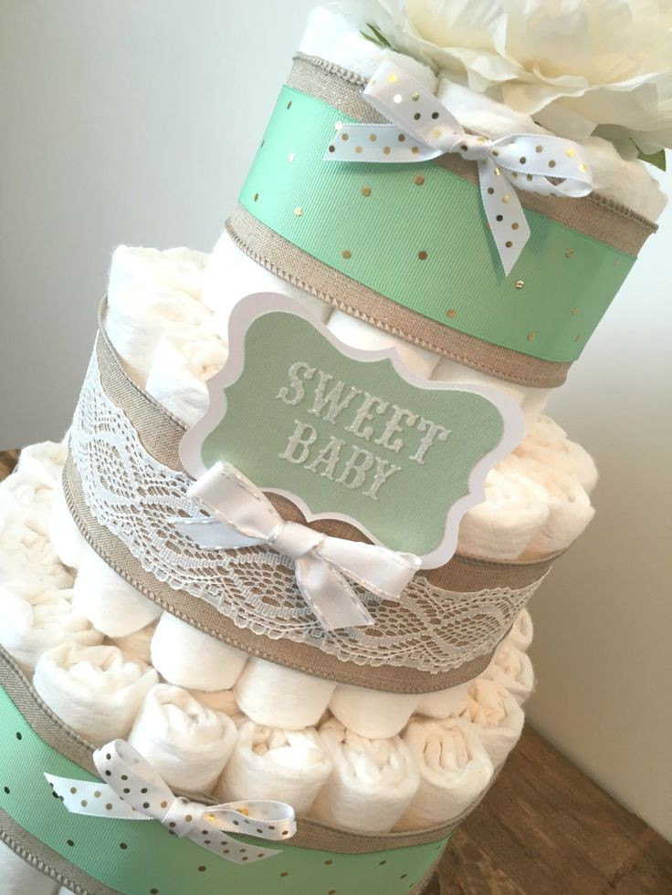 Lovely Best 25 Mint Green Cakes Ideas On Pinterest Baby Diaper Cake Ideas Of New 48 Pictures Baby Diaper Cake Ideas