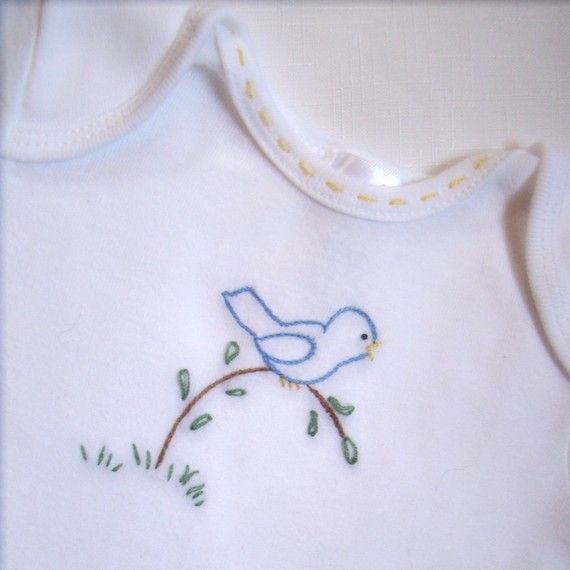 Lovely Bir A Branch Esie Bodysuit or Tee Shirt Hand Baby Embroidery Of Gorgeous 42 Ideas Baby Embroidery