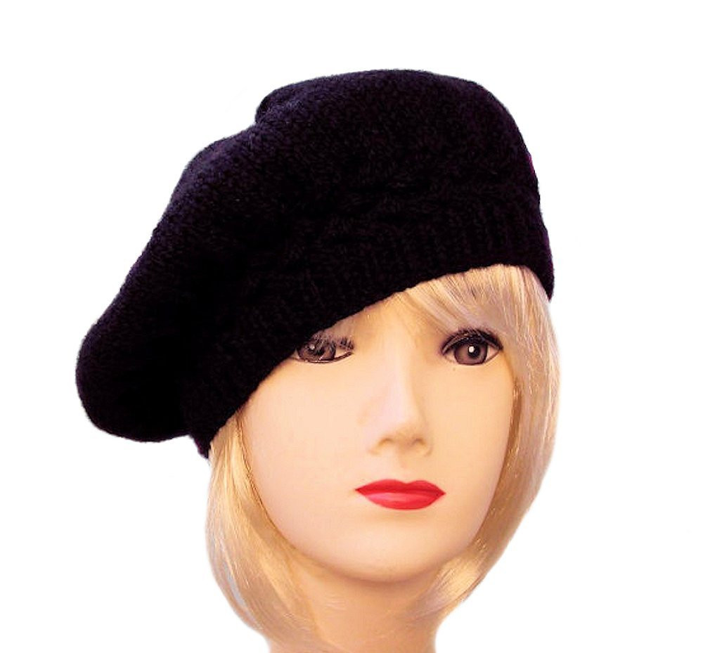 Lovely Black Beret Black Knit Hat Womens Slouchy Beret Black Beret Knit Beret Of Beautiful 41 Models Knit Beret