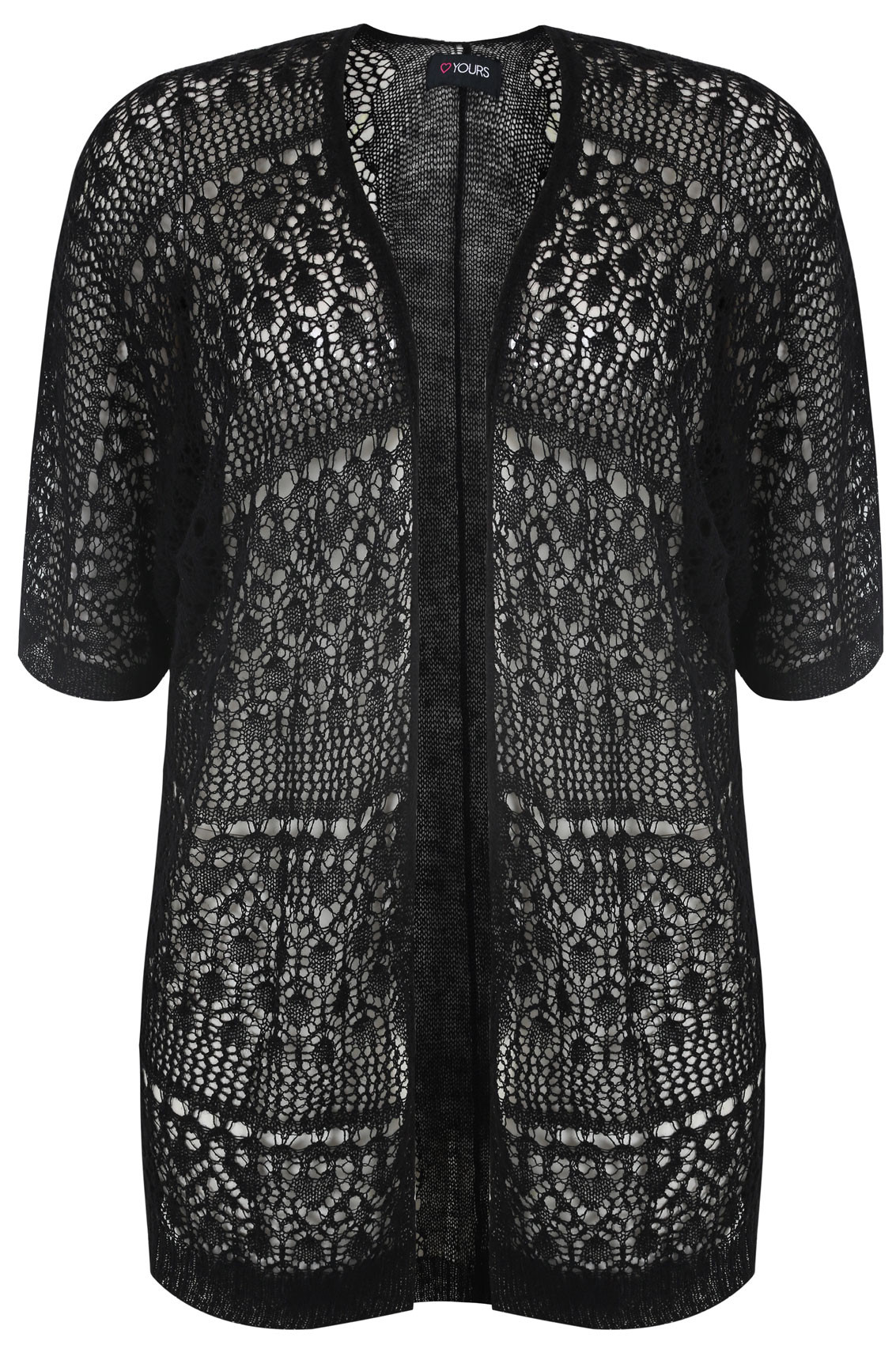 Lovely Black Crochet Lace Short Sleeved Cardigan Plus Size 14 to 36 Crochet Lace Cardigan Of Great 45 Images Crochet Lace Cardigan