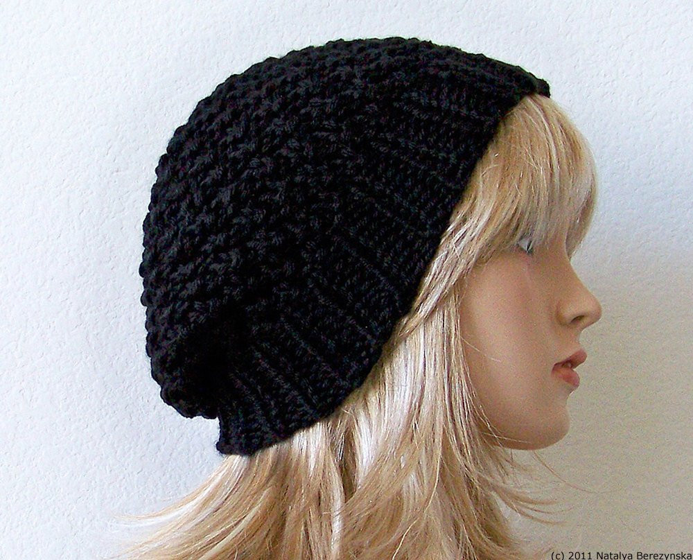 Lovely Black Slouchy Beanie Hat Knit Slouchy Hat Knit Slouch Hat Black Slouchy Beanie Of Great 40 Models Black Slouchy Beanie