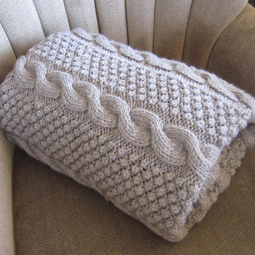Lovely Blackberry Cables Blanket Throw Afghan by Ladyshipdesigns Easy Knit Afghan Of Contemporary 50 Ideas Easy Knit Afghan