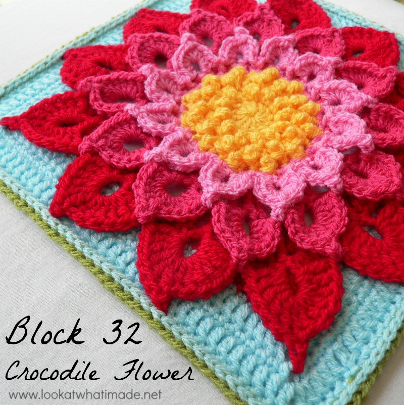 Block 32 The Crocodile Flower Tutorial ⋆ Look At