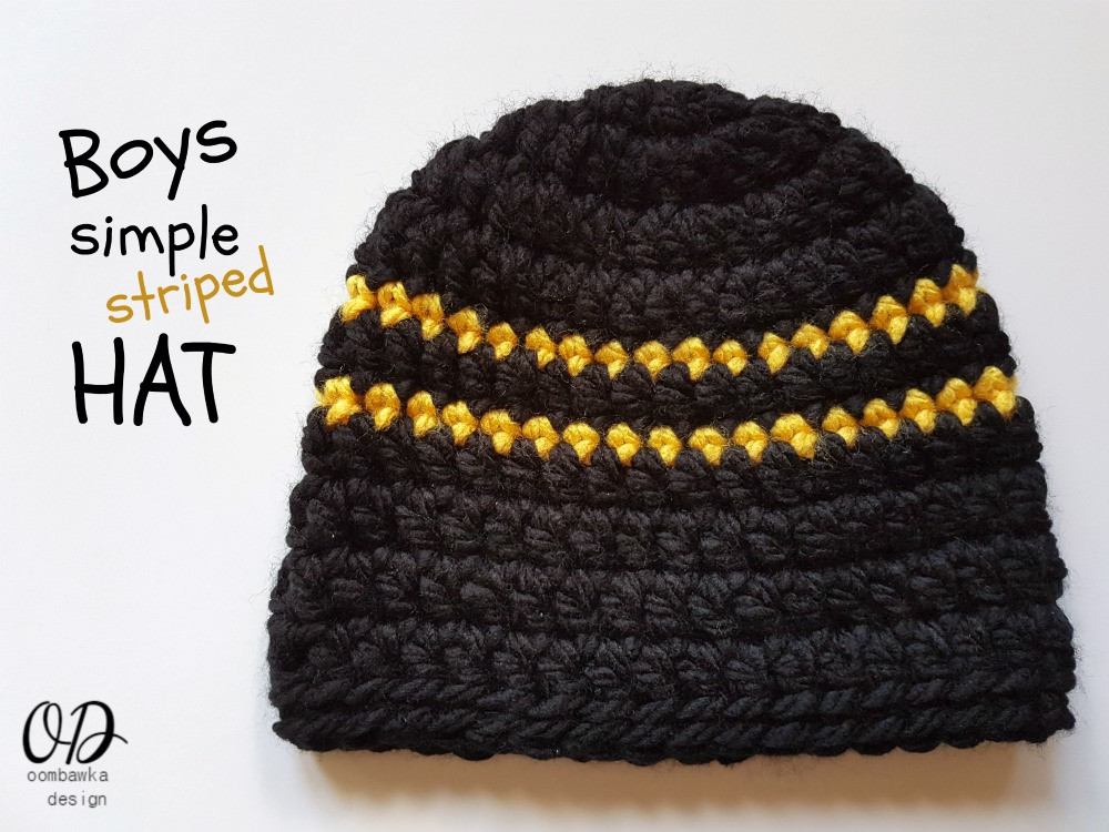 Lovely Boys Simple Striped Hat • Oombawka Design Crochet Free Crochet Hat Patterns for Boys Of Fresh 46 Photos Free Crochet Hat Patterns for Boys