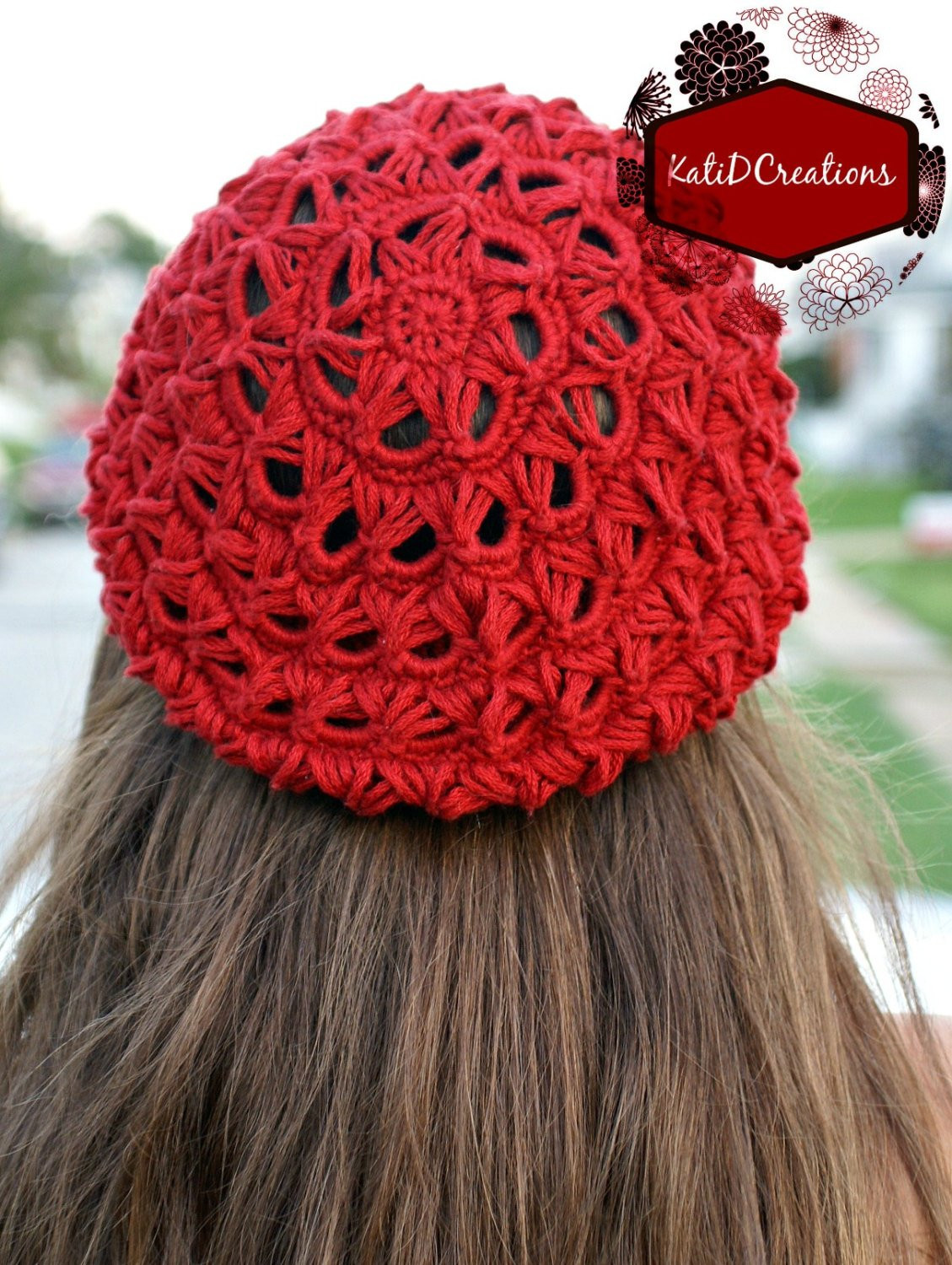 broomstick lace crochet slouchy hat