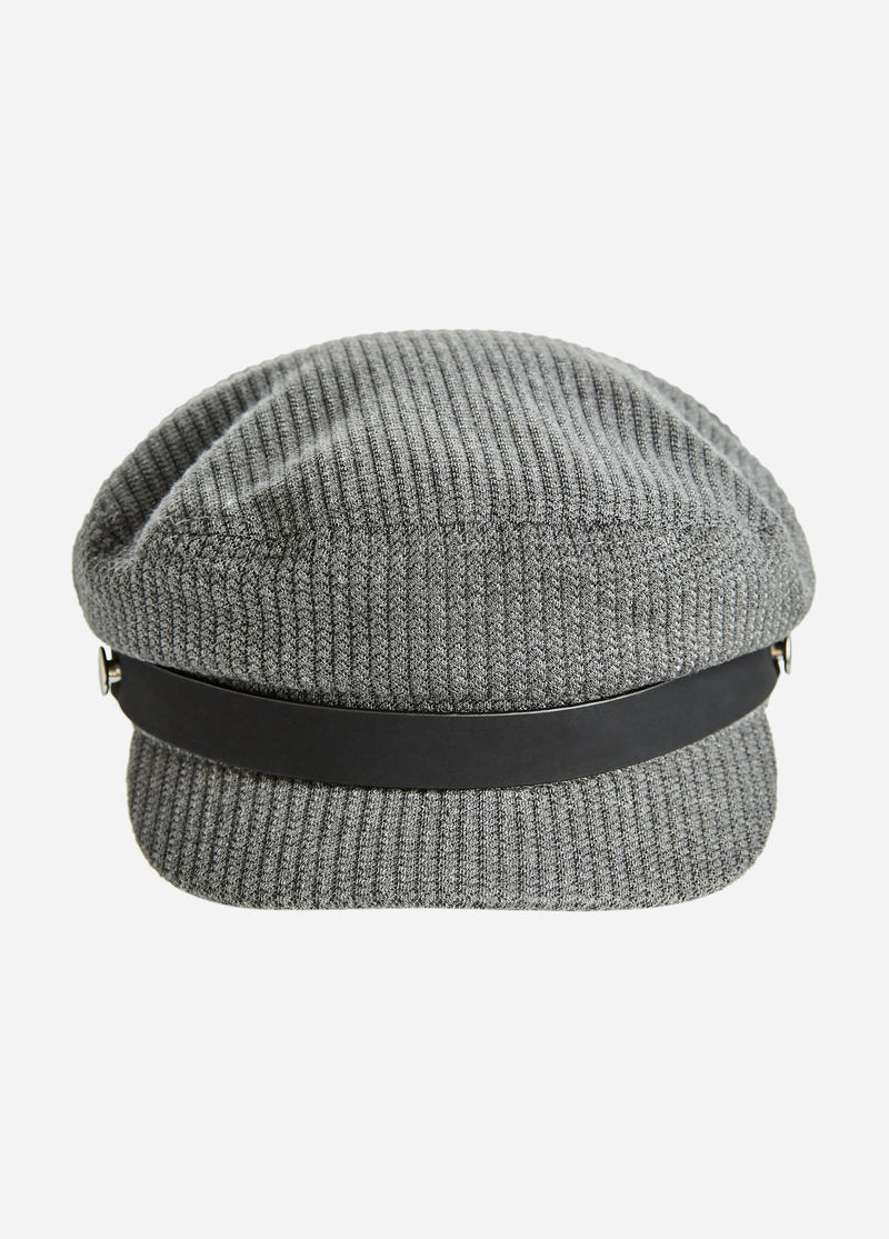 Lovely Buy Ribbed Newsboy Hat with Faux Leather Trim Grey Ribbed Hat Of Amazing 42 Pictures Ribbed Hat