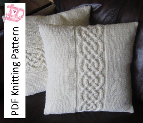 Lovely Cable Knit Pillow Cover Pattern Knit Pattern Pdf Celtic Knot Cable Knit Pillow Cover Of Top 41 Pictures Cable Knit Pillow Cover