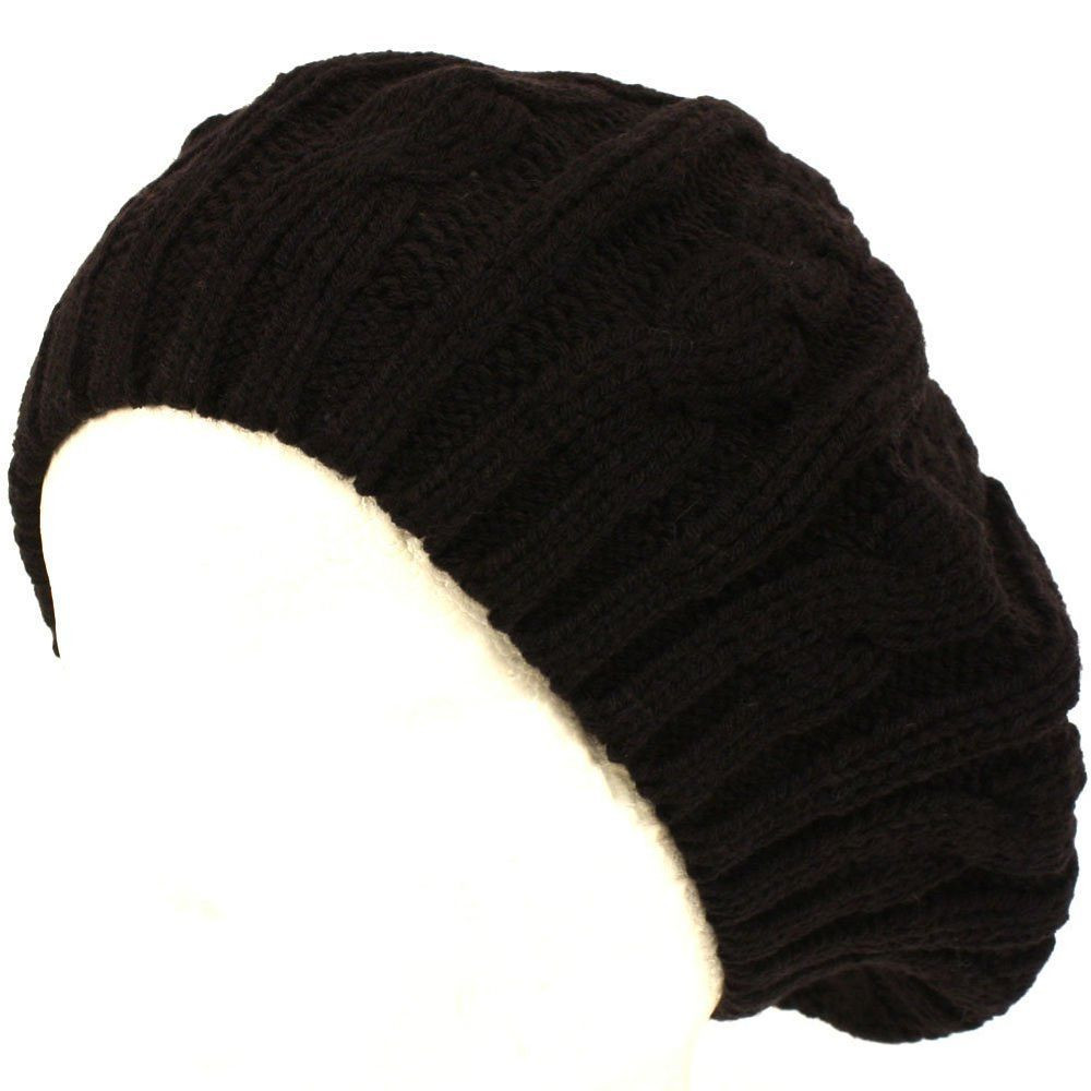 Lovely Cable Knitted Winter Ski Beret Tam Skull Hat Cable Knit Hat Of Fresh 40 Pics Cable Knit Hat