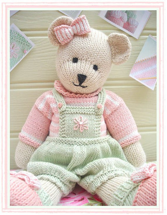 Lovely Candy Bear toy Teddy Bear Knitting Pattern by Knitted Bear Pattern Of Brilliant 42 Photos Knitted Bear Pattern