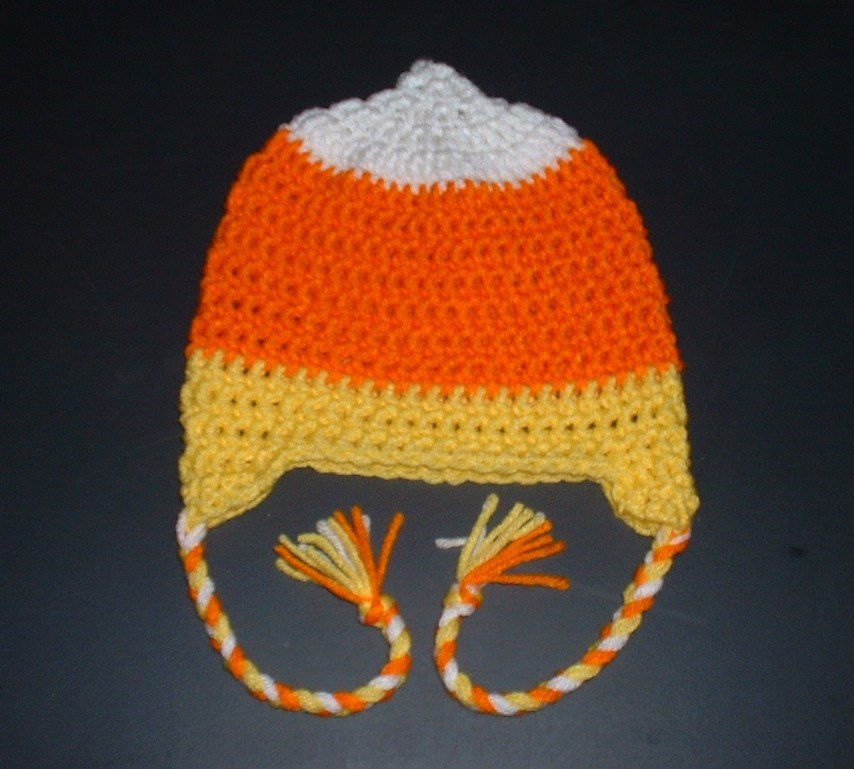 Candy Corn Hat for Halloween Newborn Candy Corn Hat by