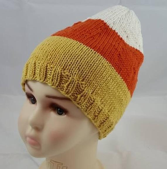 Lovely Candy Corn Hat Knit Candy Corn Hat Halloween by Hideyholehats Candy Corn Hat Of Incredible 42 Pictures Candy Corn Hat