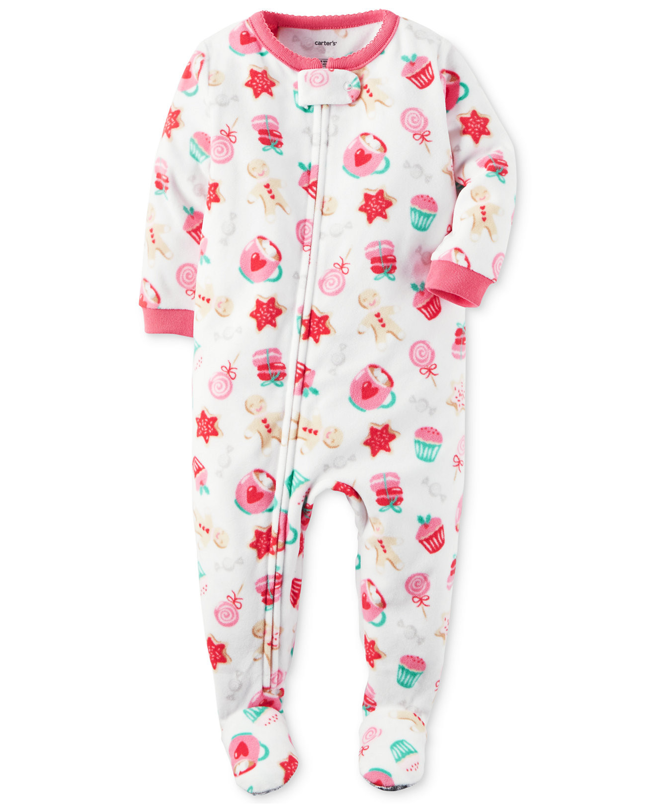 Lovely Carter S Baby Girls 1 Piece Footed Fleece Pajamas Pj S Baby Pajamas with Feet Of Delightful 40 Photos Baby Pajamas with Feet