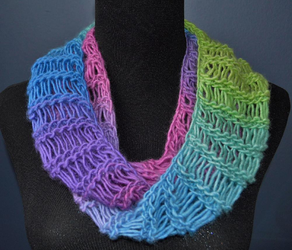 Lovely Cascading Falls Drop Stitch Infinity Scarf Scarf Loom Of Top 41 Pictures Scarf Loom