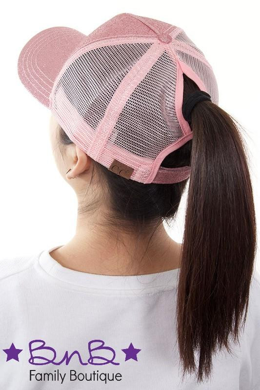 Lovely Cc Glitter Ponytail Baseball Cap Women – Bnb Family Boutique Stocking Cap with Ponytail Hole Of Unique 36 Models Stocking Cap with Ponytail Hole