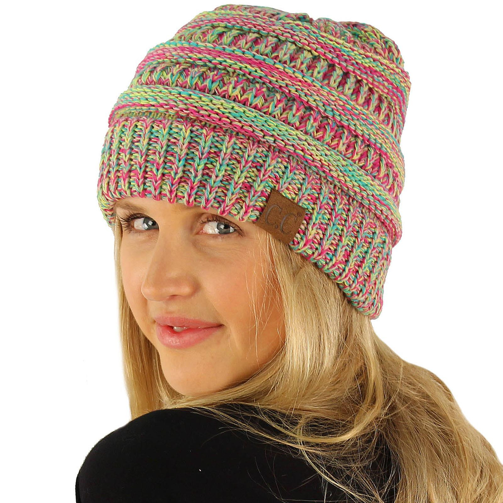 Lovely Cc Quad Color Warm Chunky Thick Stretchy Knit Slouchy Slouchy Winter Hat Of Top 47 Models Slouchy Winter Hat
