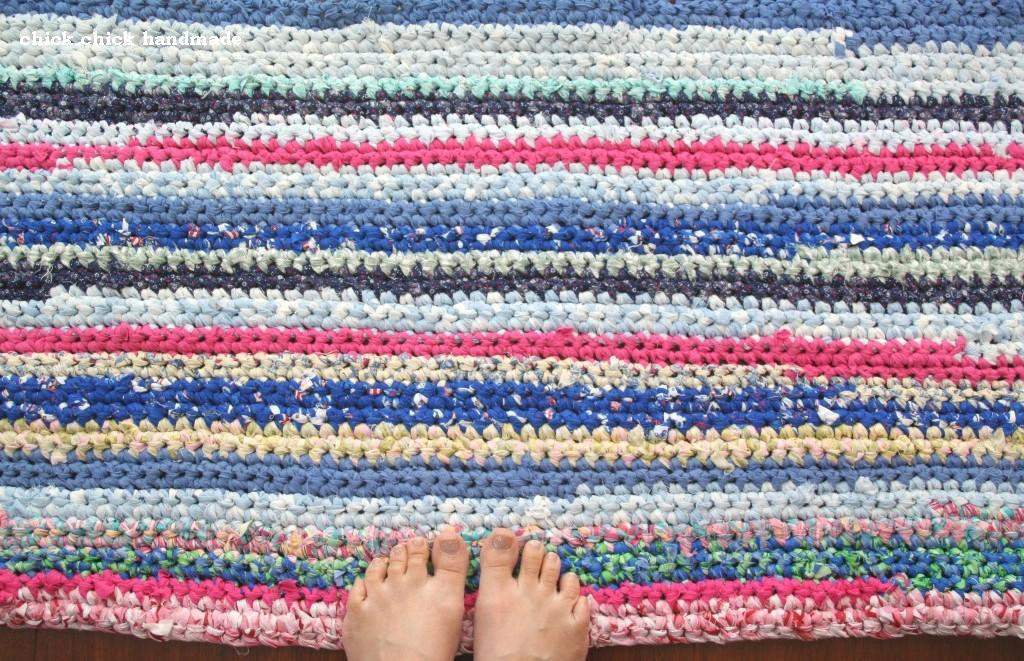 Lovely Chick Chick Sewing Crocheted Potholder with Fabric Strip Yarn Crochet Rug with Fabric Strips Of Adorable 46 Images Crochet Rug with Fabric Strips