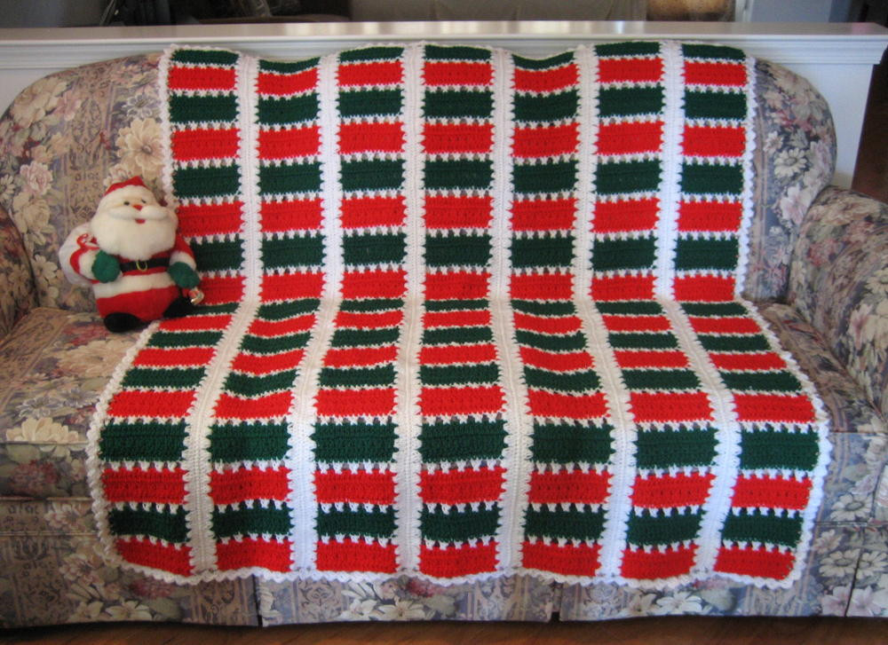 Lovely Christmas Spirit Mile A Minute Afghan Crochet Christmas Afghan Of Contemporary 48 Pics Crochet Christmas Afghan