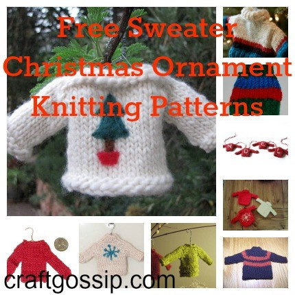 Lovely Christmas Sweater ornaments to Knit – Knitting Christmas ornament Knitting Patterns Of Beautiful 41 Pics Christmas ornament Knitting Patterns