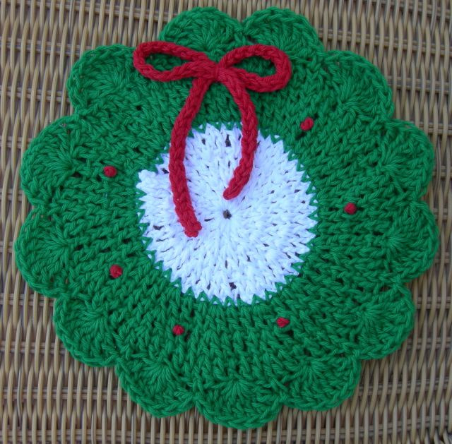 Lovely Christmas Wreath Dishcloth Knitted Dishcloth Patterns for Christmas Of Adorable 43 Pics Knitted Dishcloth Patterns for Christmas