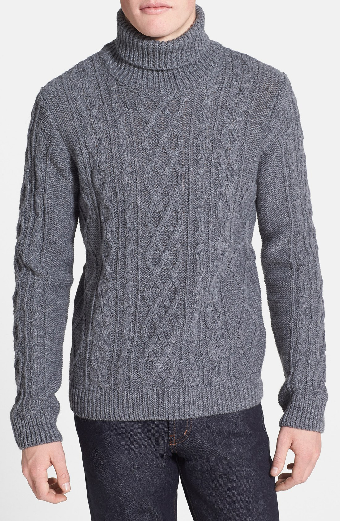 Chunky Cable Knit Sweater Mens Sweater Vest